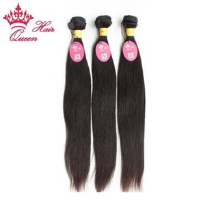 A C Queen Hair Unprocessed Virgin Hair Free Shipping Peruvian Human 3pcs Lot Straight Hair Extension ,Color1b # ,12 &Quot ;-28 &Quot ;