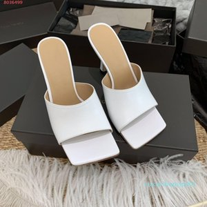 Women Designer Rubber-injected Leather Square toe Mules comfort and stability Stretch Sandals ladies Wedding Dress high heels ,10cm