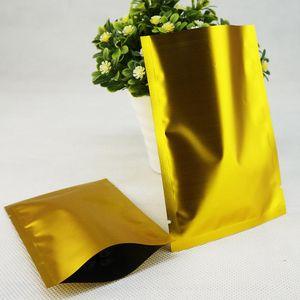 Borse d'oro opaco alluminio - mylar plastica Sacchetti di calore sigillabile, open top Dumb alluminato SACCHETTO DI ALLUMINIO, colorate imballaggio Sacco 000