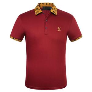 patrons Hommes Designers Polo Chemises Homme Hugo été Turn Col bas manches courtes en coton Polo Hommes Polos Casual M-3XL629