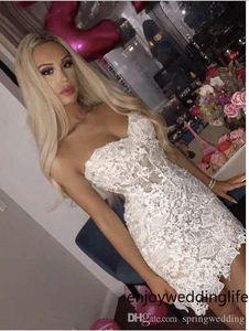 Lindo Open Back Cocktail Dresses Bainha 2019 Lace Querida Mini curto vestido Homecoming Clube desgaste do partido vestidos de 2561