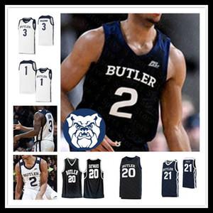 Personalizzato 2020 Ncaa Basketball Butler Bulldogs Jersey degli uomini di Kamar Baldwin BRYCE NZE Aaron Thompson TUCKER Sean McDermott Gordon Hayward