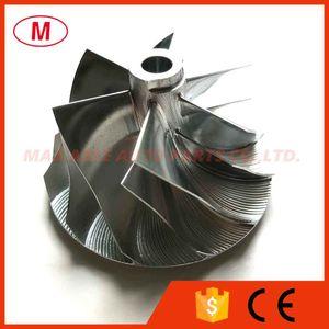 RHF55 43,40 / 56,03 milímetros 6 + 6 pás roda do compressor turbo tarugo / Alumínio 2618 roda / trituração por VR38DETT Twin Turbo VN5 / GTR R35 / 141