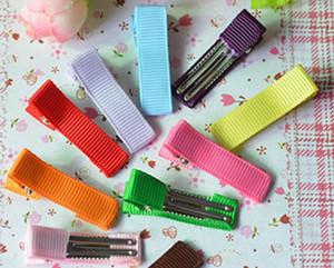 500pcs девушка 35 мини-крышка ленты подкладке волос смычков зажимы двойной зажим зубец Аллигатор волос аксессуары для волос головной убор FJ3203