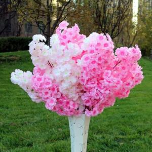 6pcs Gefälschte Kirschblüte Blume Ast Begonia Sakura Baum für Veranstaltung Hochzeit Baum Deco Künstliche dekorative Blumen-Fälschungs-Pflanze Stängel