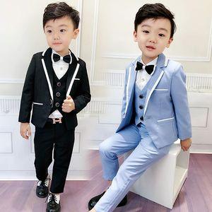 New 2020 Spring Boys Suits for Wedding Gentleman Boys Dresses Suit Coat+Vest+Pant Clothing Sets 3pcs Children Spring Costume