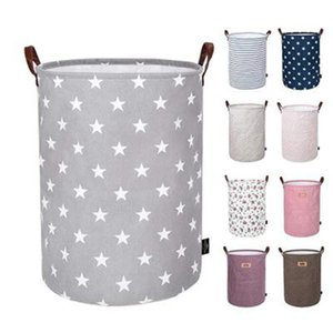 Foldable Storage Basket Kids Toys Storage Bags Bins Printed Sundry Bucket Canvas Handbags Clothing Organizer Tote IIA235