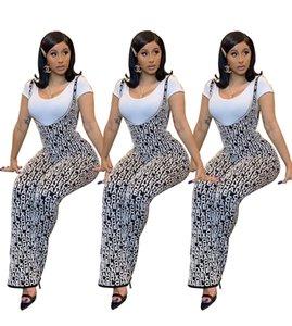 Pezzi Pantaloni Tendenze moda stampa temperamento Slim del commercio all'ingrosso delle donne delle tute pagliaccetti del 20ss Donne Stampa Taglia S-2XL