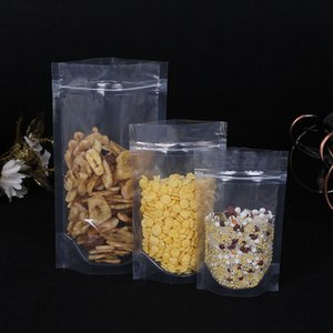 100pcs Transparent self supporting ziplock bag snack nut coffee food candy bags