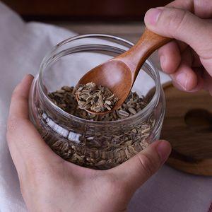 Mini Kochlöffel Küche Gewürz Löffel Holz Zucker Tee Kaffee Scoop Kleine Kurz Würze Löffel aus Holz Utensilien Werkzeug Kochen