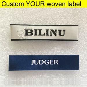 All'ingrosso della fabbrica su misura i tuoi vestiti Etichette Garment ricamo principale tessuto tag etichette / indumento bag / Abbigliamento / scarpe da cucire Etichette