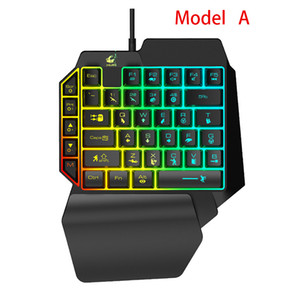 Wired Single-Handed Gaming Keyboard única mão teclado mecânico Sinta Keyboard Game for Mobile Tablet Laptop PUBG Jogo