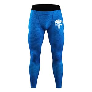 Schädel-Logo Men Compression feste Gamaschen Quick Dry Hosen Punisher Hosen Gym Hose Yoga Hosen Jogginghose