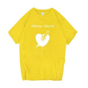 Шея Мужские футболки подросток повседневные топы рэпер Nipsey Hussle печатные футболки быстросохнущий дышащий экипаж