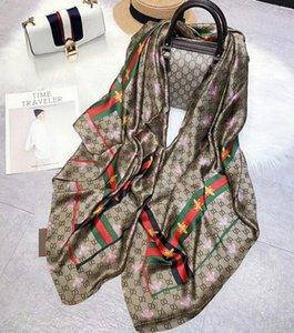 lenço de seda Designer para as mulheres Hot Selling Luxo Bee Impresso xale lenços Pashmina moda longo anel de presente de Natal Dropship A169