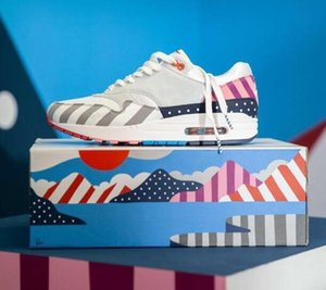 Yeni Stil Hollanda Tasarımcı Piet Parra 1 Beyaz Çok Koşu Ayakkabıları Gökkuşağı Parkı Erkekler Eğitmenler Ayakkabı Womens Sneakers Boyutu 36-44