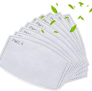 PM2.5 Aktivkohlefilter Pads Papier für Mund ersetzen Atem Insert 5 Schichten Filtereinsatz Erwachsene und Kinder Masken Filterkissen LJJK2232