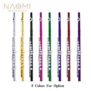 NAOMI concierto cerrado 16 Agujero de flauta C Clave flautas cuproníquel plateado flauta