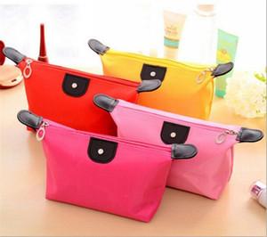 Alta calidad Las mujeres viajan Higiene Hacer bolso de la bolsa cosmética del bolso del embrague monederos Caja del filtro cosmética para el maquillaje de los cosméticos del organizador del bolso