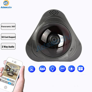 Yoosee Панорамный IP-камера 960P 3D VR WI-FI камеры 360 градусов 1.3MP Рыбий TF Card Беспроводная интеллектуальная камера Слот ИК 10М AS-VRC301Y