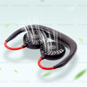 Новый носимый портативный двуглавый маленький вентилятор SUB зарядки шеи висит вентилятор открытый спортивный вентилятор Fashion Mini