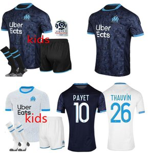 kids kit Marseille Soccer jersey 2020 2021 Marseille Maillot de foot BENEDETTO PAYET L GUSTAVO 20 21 THAUVIN shirts