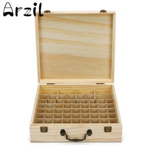 66 Slots Holz Ätherisches Öl-Flaschen-Kasten-Speicher-Fall-Organisator Aromatherapie-Anzeige mit hohen Kapazität Nagellack Carrying Halter