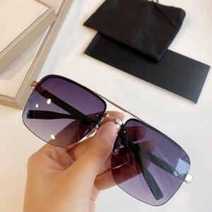 Yeni 0048Top Tasarımcı kutusuyla Gözlük UV400 koruması hafif Kolay giymek Ultra Basit metal oval çerçeve gözlük Sunglasses