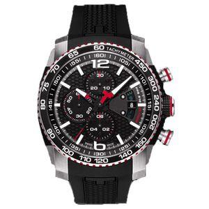 جديد الساعات الفاخرة الرجال الأزياء الرياضية العسكرية الساعات T079 كرونوغراف كوارتز المعصم للماء t- سباق أعلى ماركة الساعات T0794272705700