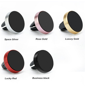 Universal Air Vent Magnetic Mobile Phone Holder For Samsung Magnet Car Phone Holder Aluminum Silicone Mount Holder Stand