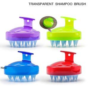 4styles Silicone Shampoo Brush Shampoo Scalp Massage Brush Hair Washing Comb Body Bath Spa Slimming Massage clean Brushes Scrubbers FFA2847-