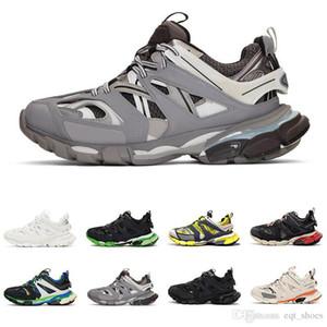 Nueva pista 3.0 para mujer para hombre zapatillas de deporte de cuero de lujo de 2019 18SS jogging Triple S de alta calidad superior de los zapatos de moda casual Operando entrenadores deportivos