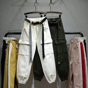 Bolsillo de los pantalones vaqueros Mujeres Jeans blancos estudiantes novio para Mujeres Ejército Verde Jean Nancylim