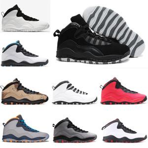 Top Basketball Shoes 10s Nuovo NakeskinJordan 10 uomini Tinker Woodland Camo Cool Grey Torna aj 1 Sneaker Sneakers Designer