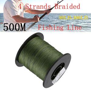 500M High Abrasion Fishing Carp Line Super Strength Braided 4 Strands 30LB-100LB