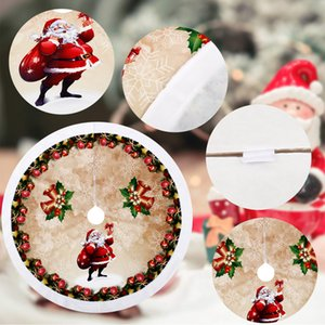 Christmas Tree Skirt Round Carpet Christmas Decorations for Home Floor Mat New Year 2019 Xmas Tree Skirts