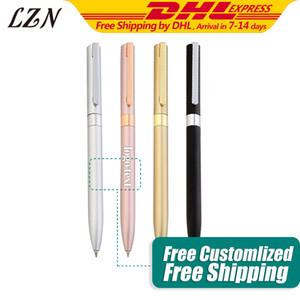 Envío de la manera metal plumas de gel 500pcs Un Lote buena escritura papelería suministro gratuito de impresión especiales / texto