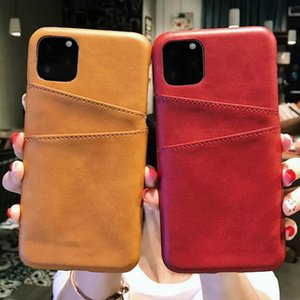 1pcs hot Phone Case Fashion Leather Holster Card Anti-Fall For Iphone 6s 7 8 Xr Xs 11 Pro Max Plus Protective Case