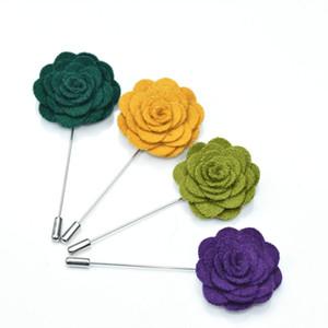dos homens broches pinos Handmade Wedding Pin feltro Flower lapela Boutonniere vara Pin moda jóias Garment Acessórios 5pcs