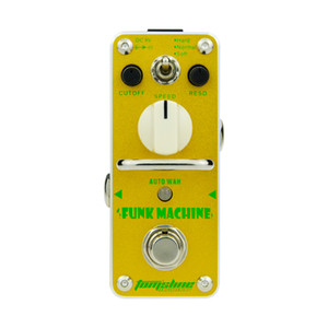 AROMA AKF-3 Gitar Efekt Pedal Funk Makinesi Otomatik Wah Elektro Gitar Efekt Pedal Mini Tek Etkisi Gerçek Bypass