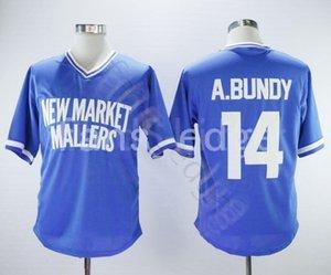 Barato AL BUNDY NEW MARKET MALLERS JERSEY DE BÉISBOL 14 camisetas de punto para hombre, camisetas S-XXXL Envío gratis 67