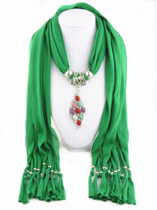 Saçaklı polyester kolye eşarp Bayan katı şal takı Renkli turkuaz kanatları kolye eşarp 180 cm X 40 cm atkılar şal