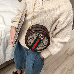 Crianças bolsas bolsa bolsa de ombro crianças Coin versão coreana Circular diamante estrutura carta de menina