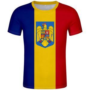 Румыния футболка diy free custom made name number T-Shirt nation flag ro romana romanian country college print photo clothing
