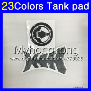 Fibra del carbón 3D del cojín del tanque para Kawasaki ZX10R 06 07 ZX 10R ZX 10 R 06-07 ZX10R 2006 2007 06 MY42 Gas Tapa del tanque Protector de etiquetas de pegatina