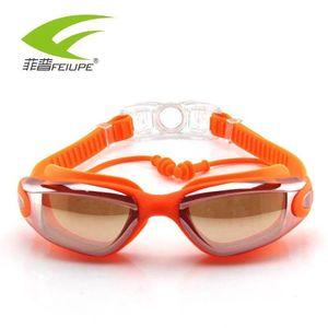 Goggles Men Women Eyewear Anti Fog UV Protection Swim Goggles With Earplug Professional Waterproof Swim Glasses