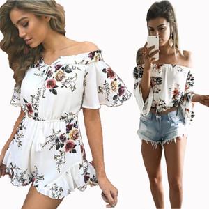 2020 heiße Verkaufs-Sommer-Rock Ein Ausschnitt Sexy Schulterfrei Drucken Oben T-Shirt One Piece Kleid Erzeugung Röcke für Frauen NZ002