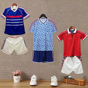 Çocuklar Retro Man 1998 99 90 92 Beckham Giggs v.NISTELROOY ROONEY antik futbol forması Jersey 83 Cantona Zidane HENRY Futbol Utd kiti