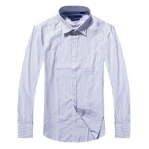 أزياء -0٪ جودة القطن الصلبة قميص الرجال عارضة قميص كبير قميص مخطط أكسفورد اللباس قميص camisa الغمد