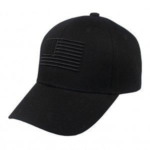 3D Embroidery USA Flag Hat Adjustable Metal Buckle Hip Hop Streetwear Black Baseball Cap Snapback Men Women Unisex